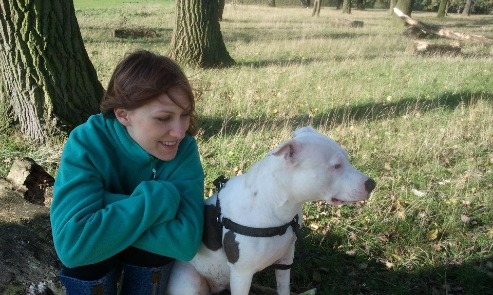ja i pies w angielskim parku