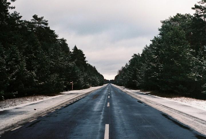 Zima w lesie i Gdańsk –analogowo