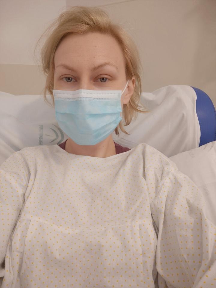 Szpitalne selfie, a jak.